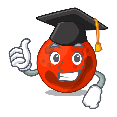 Graduation mars planet character cartoon vector illustration Ilustrace