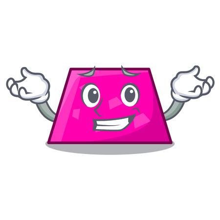 Grinning trapezoid character cartoon style vector illustration Stock Vector - 114831605