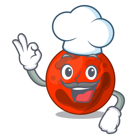 Chef mars planet character cartoon vector illustration 向量圖像