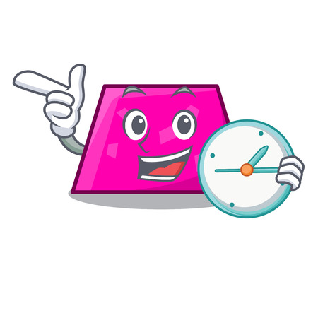 With clock trapezoid character cartoon style vector illustration Stock Vector - 114831647