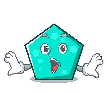 Illustration vectorielle de pentagone mascotte cartoon style Vecteurs