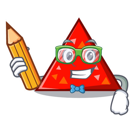 Student triangle character cartoon style vector illustration