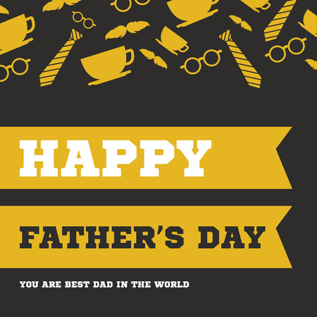 Father day greeting card hero vector illustration