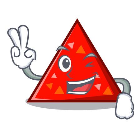 dos triángulo de dibujos animados ilustración de vector de estilo de dibujos animados de caracteres