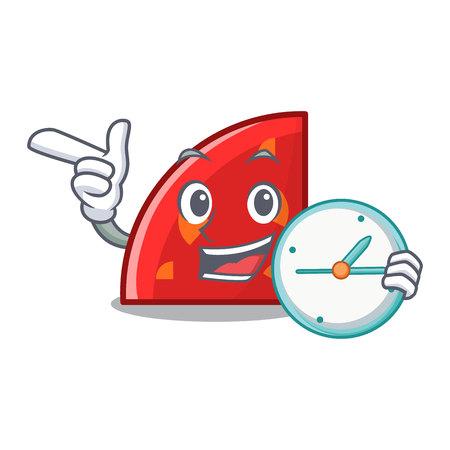 With clock quadrant character cartoon style vector illustration Stock Photo