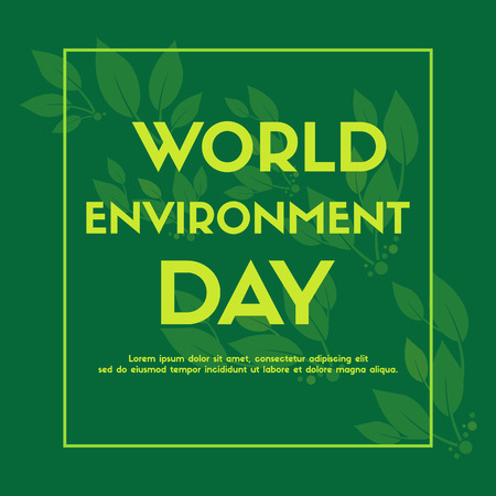 World environment day background color green vector illustration