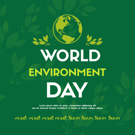 World environment day design card vector illustration