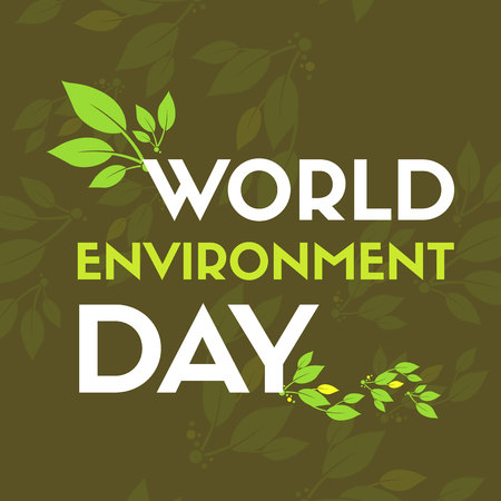 World environment day greeting card vector illustration Illustration