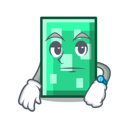 Waiting rectangle mascot cartoon style vector illustration