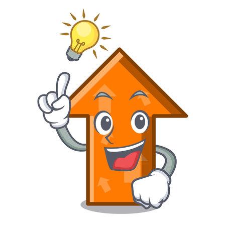 Have an idea arrow mascot cartoon style vector illustration