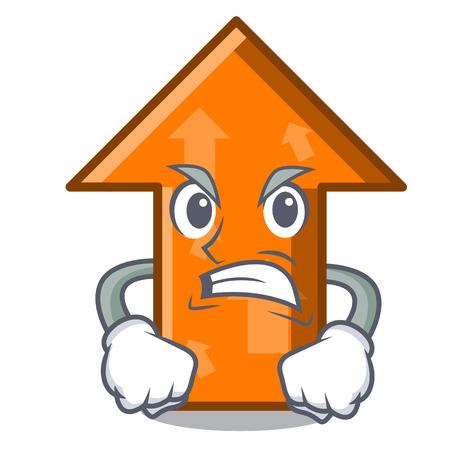 Angry arrow mascot cartoon style vector illustration Vektorové ilustrace