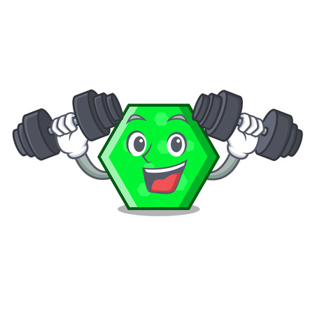 Fitness octagon character cartoon style vector illustration Иллюстрация