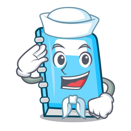 Sailor education character cartoon style vector illustration