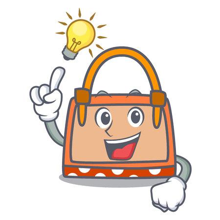 Have an idea hand bag mascot cartoon vector illustration