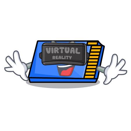 Virtual reality memory card mascot cartoon vector illustration Stock Photo
