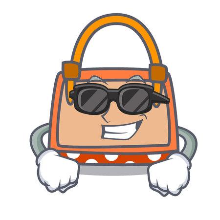Super cool hand bag character cartoon vector illustration