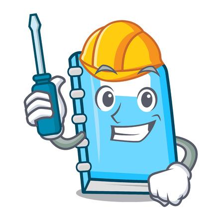 Automotive education mascot cartoon style vector illustration Vektorové ilustrace