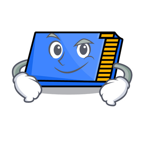 Smirking memory card character cartoon vector illustration