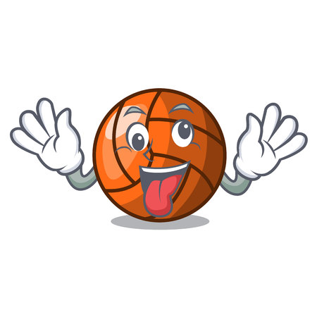 Crazy volleyball mascot cartoon style vector ilustration