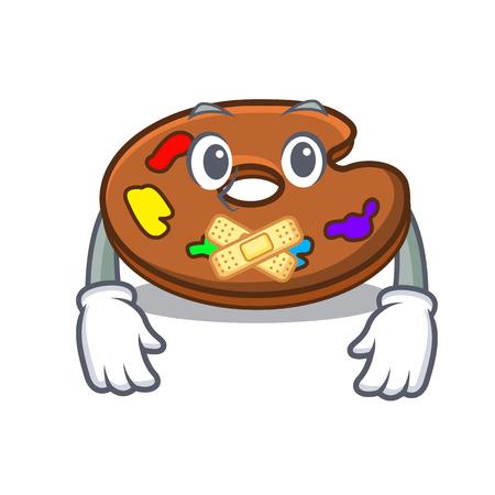 Silent palette mascot cartoon style
