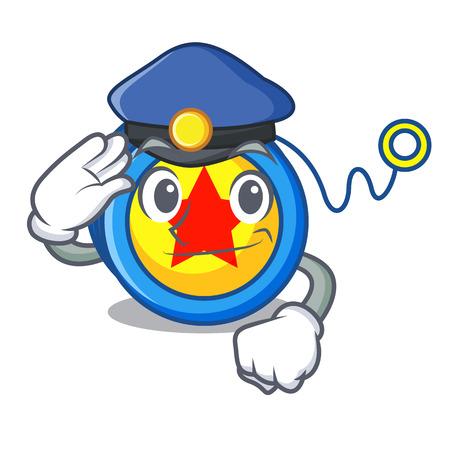 Police yoyo character cartoon style vector illustration Ilustrace
