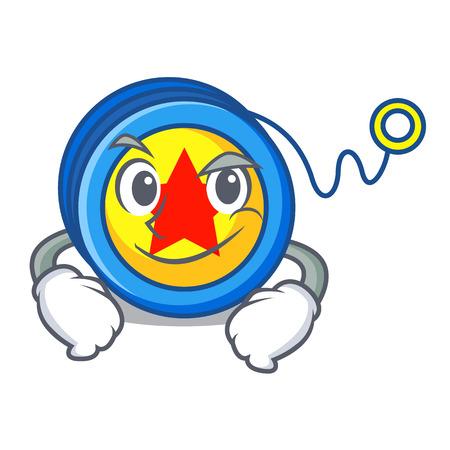 Illustration vectorielle de sourire yoyo personnage cartoon style