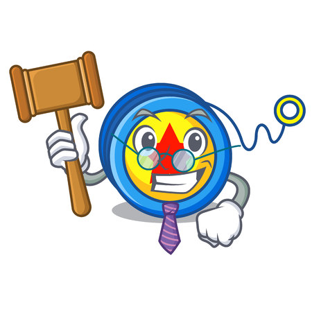 Judge yoyo mascot cartoon style vector illustration