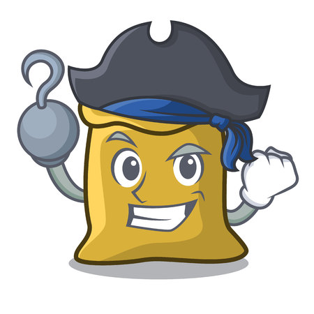 Pirate flour character cartoon style