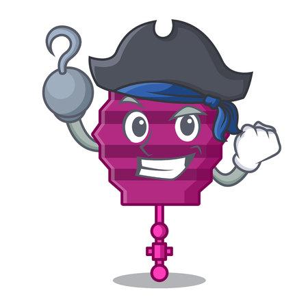 Pirate paper lantern character cartoon Ilustrace