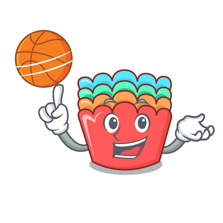 With basketball baking molds character cartoon vector illustration