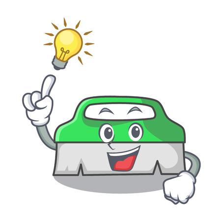 Have an idea scrub brush mascot cartoon vector illustration