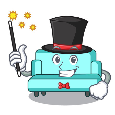 Magician sofa mascot cartoon style Stock fotó
