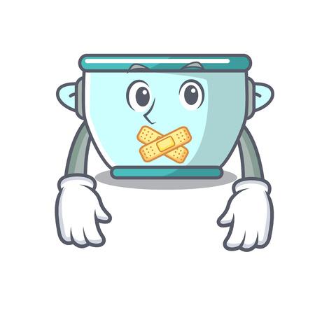 Silent steel pot mascot cartoon vector illustration Stock Photo