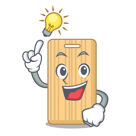 Have an idea wooden cutting board mascot cartoon vector illustration