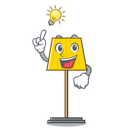 Have an idea floor lamp mascot cartoon vector illustration