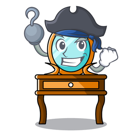 Pirate dressing table character cartoon vector illustration
