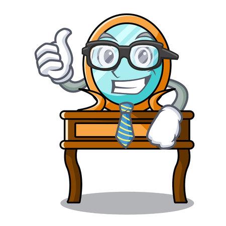 Businessman dressing table character cartoon vector illustration Illustration