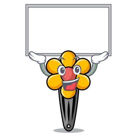 Up board hair clip character cartoon vector illustration