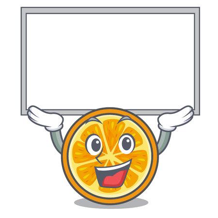 Up board orange character cartoon style vector illustration