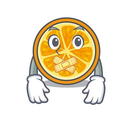 Silent orange mascot cartoon style vector illustration