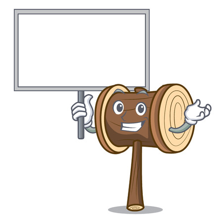 Bring board mallet character cartoon style vector illustration