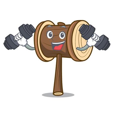 Fitness mallet character cartoon style vector illustration Illusztráció