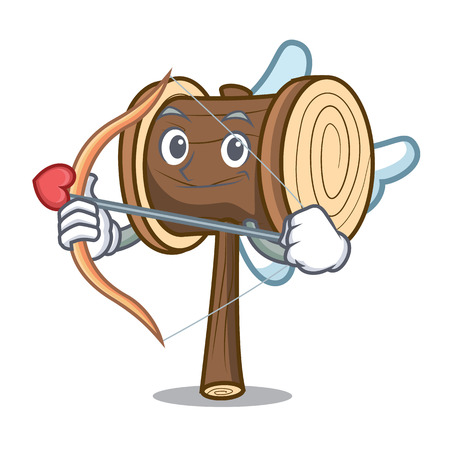 Cupid mallet character cartoon style vector illustration