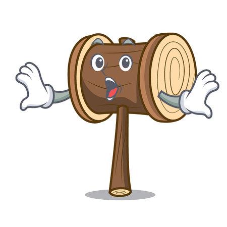 Surprised mallet mascot cartoon style vector illustration