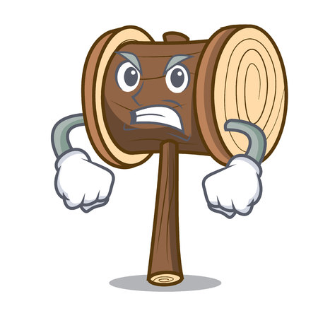 Angry mallet mascot cartoon style vector illustration 写真素材 - 112124770