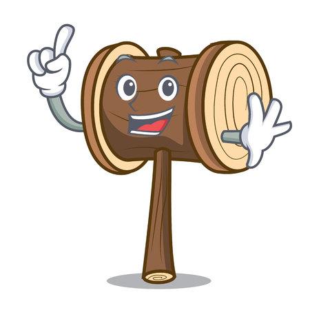 Finger mallet mascot cartoon style vector illustration