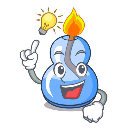 Have an idea alcohol burner mascot cartoon vector illustration