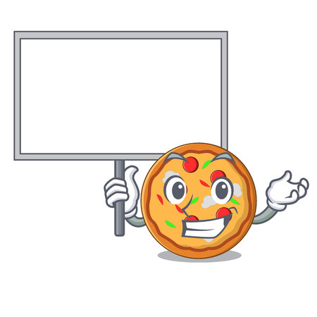 Bring board pizza character cartoon style vector illustration
