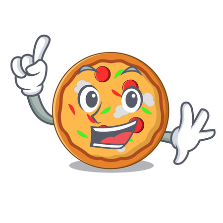 Finger pizza mascot cartoon style vector illustration