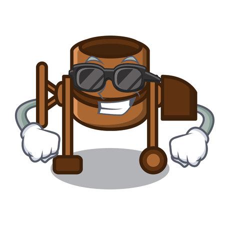 Super cool concrete mixer character cartoon vector illustration
